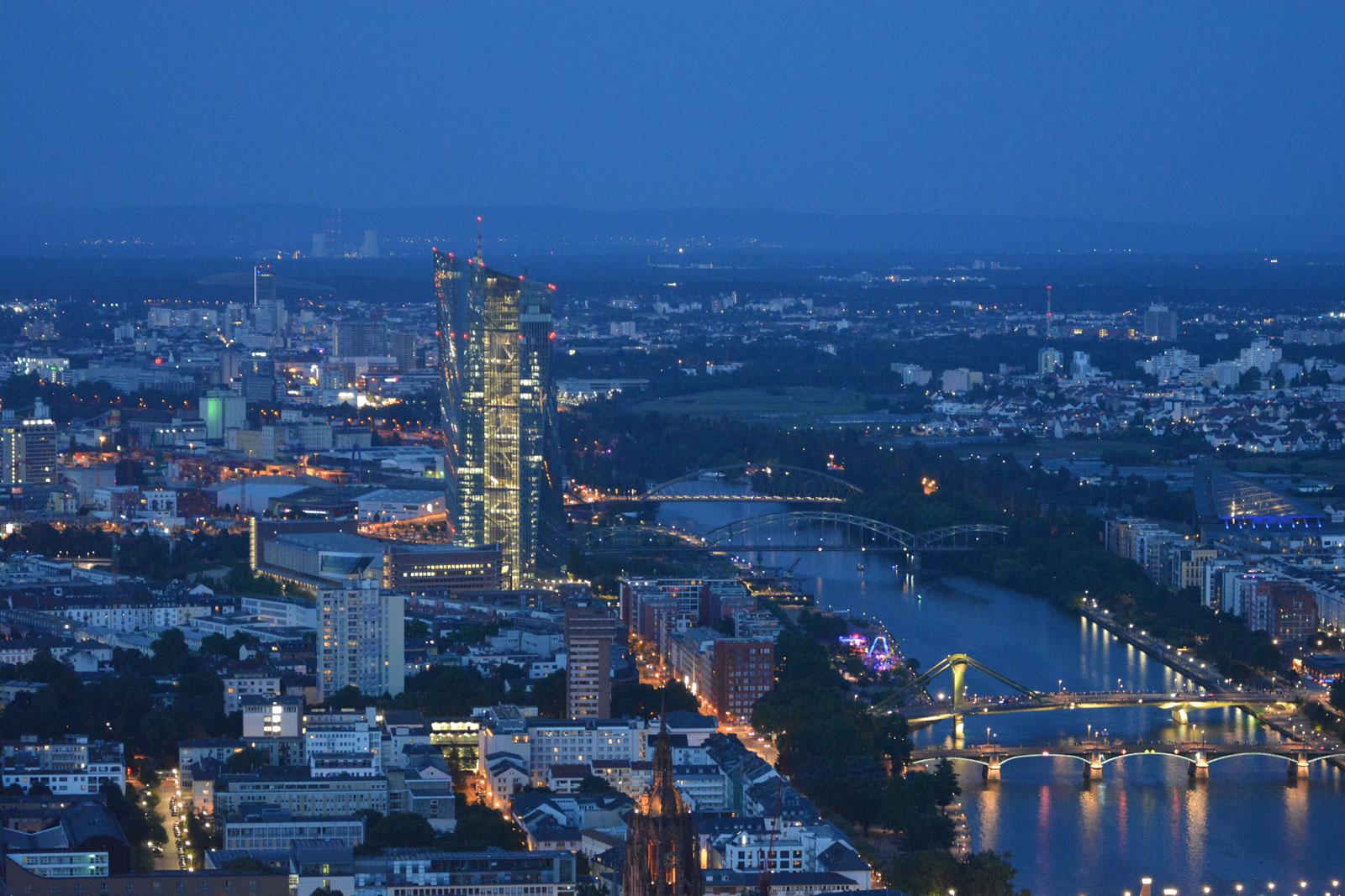 Frankfurt Bild Main Tower Innenstadt EZB