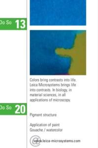 Leica Microsystems – Ausschnitt aus einem Kalender für Kunden und Partner